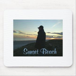 Cojín de ratón - playa de la puesta del sol tapetes de ratón