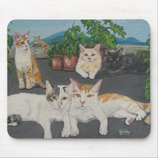 Cojín de ratón precioso de los gatos alfombrillas de ratón