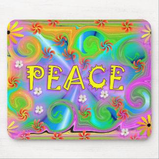 Cojín de ratón psicodélico de la paz tapetes de ratón