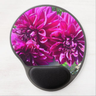 Cojín de ratón púrpura de la flor de la dalia alfombrillas de raton con gel