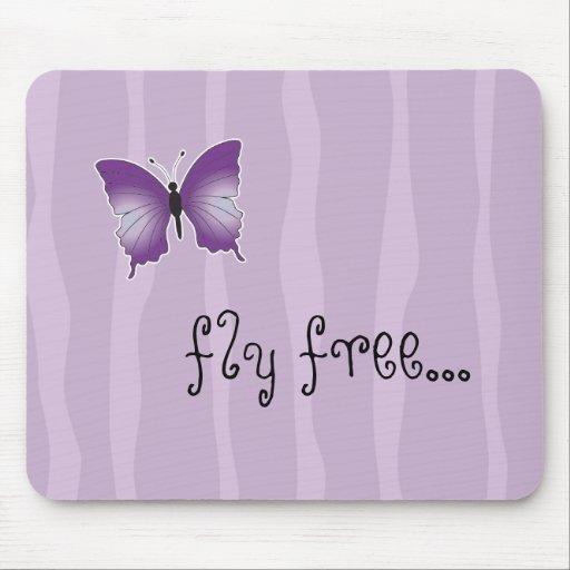 Cojín de ratón púrpura de la mariposa alfombrilla de ratón