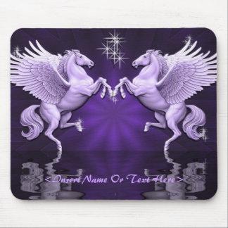 Cojín de ratón púrpura de las reflexiones de tapetes de raton