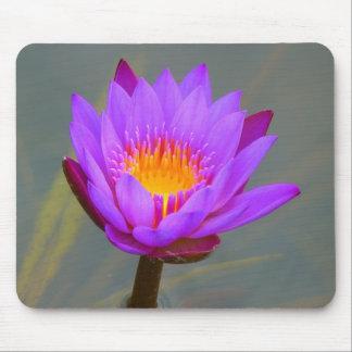 Cojín de ratón púrpura de Lotus Alfombrillas De Raton