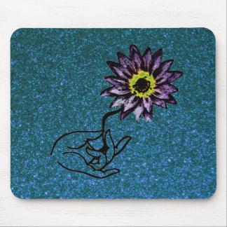 Cojín de ratón púrpura de Lotus Tapetes De Ratón