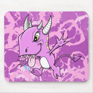 Cojín de ratón púrpura del monstruo mousepad