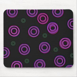 Cojín de ratón púrpura del poder tapetes de ratones