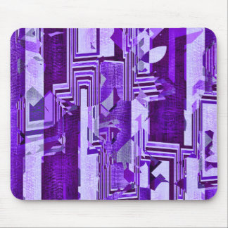 Cojín de ratón púrpura geométrico del modelo de mouse pad