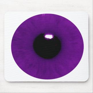 Cojín de ratón púrpura oscuro del globo del ojo alfombrillas de ratón