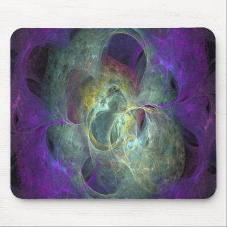 Cojín de ratón púrpura y gris del fractal de la ll tapete de ratón