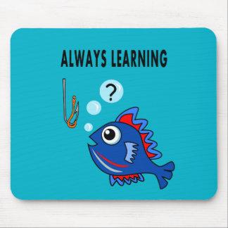 cojín de ratón que aprende siempre pescados tapete de ratón