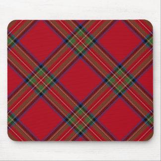Cojín de ratón real de la tela escocesa de tartán  tapetes de ratón