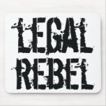 Cojín de ratón rebelde legal tapetes de ratones