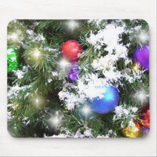 Cojín de ratón - resplandor del navidad y falsa tapete de raton