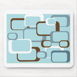 cojín de ratón retro azul claro de los cuadrados tapete de raton