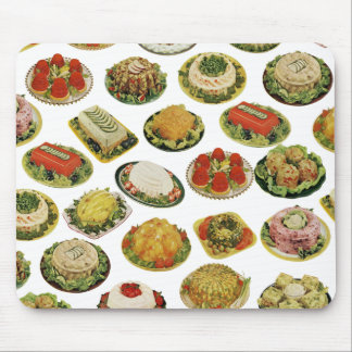 Cojín de ratón retro de las ensaladas de la gelati alfombrillas de ratones