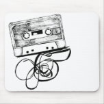Cojín de ratón retro del casete de cinta de audio alfombrilla de raton