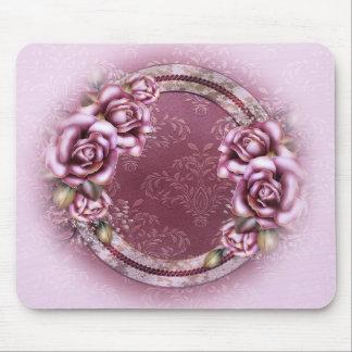 Cojín de ratón retro rosado de los rosas tapete de ratón