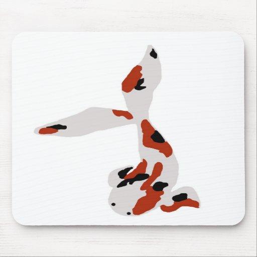 Cojín de ratón rojo, blanco y negro de Koi Tapetes De Ratones