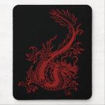 Cojín de ratón rojo de Glaurung del dragón Tapetes De Ratón
