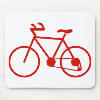 Cojín de ratón rojo de la bicicleta creado para re tapete de ratones