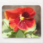 cojín de ratón rojo de la flor tapete de ratones