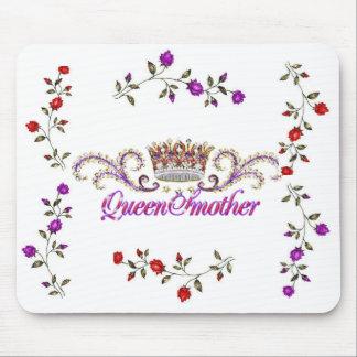 cojín de ratón rojo de la reina madre del gorra alfombrillas de raton