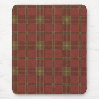 Cojín de ratón rojo de la tela escocesa mouse pads