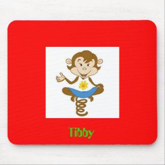 Cojín de ratón rojo de Tibby Alfombrilla De Ratón