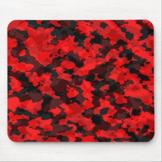 Cojín de ratón rojo del camuflaje alfombrillas de raton