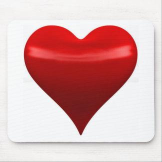 Cojín de ratón rojo del corazón alfombrillas de ratón