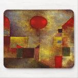 Cojín de ratón rojo del globo de Paul Klee Tapetes De Ratones