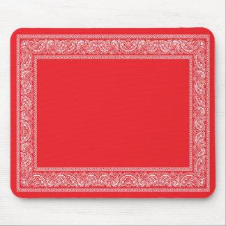 Cojín de ratón rojo del pañuelo de Paisley Alfombrilla De Ratones