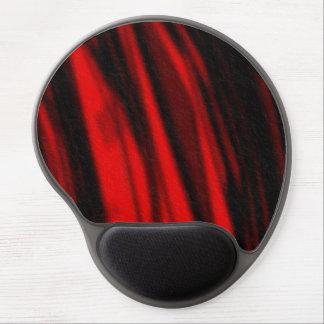 cojín de ratón rojo del terciopelo alfombrilla con gel