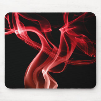 Cojín de ratón rojo fresco del humo tapetes de raton