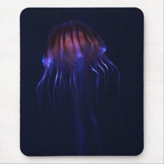 Cojín de ratón rojo y azul de las medusas alfombrillas de ratones