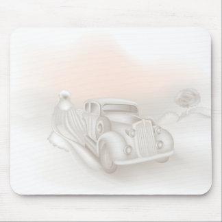 Cojín de ratón romántico del boda mouse pad