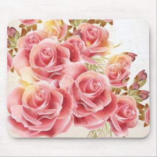 Cojín de ratón rosado artístico de los rosas tapete de ratón