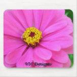 Cojín de ratón rosado de la flor alfombrillas de ratón