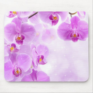Cojín de ratón rosado de las orquídeas tapetes de raton