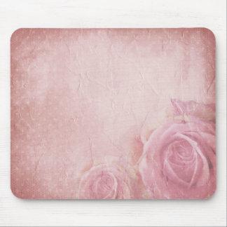 Cojín de ratón rosado de los rosas del vintage mouse pads