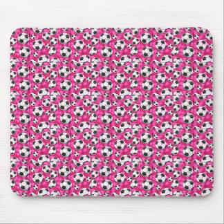 Cojín de ratón rosado de neón de los balones de alfombrillas de raton