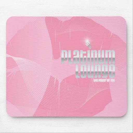 ¡Cojín de ratón rosado de PlatinumLounge! Alfombrillas De Raton