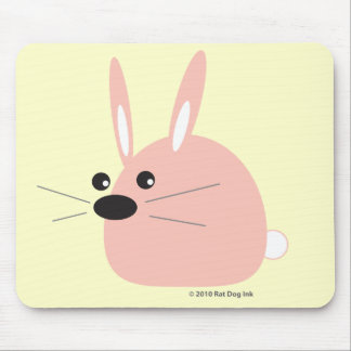 Cojín de ratón rosado del conejito tapetes de raton