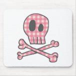 Cojín de ratón rosado del pirata de la guinga alfombrillas de ratones