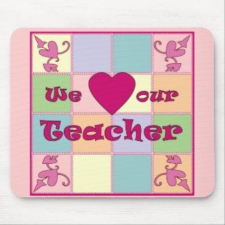 Cojín de ratón (rosado) del remiendo del profesor mouse pads