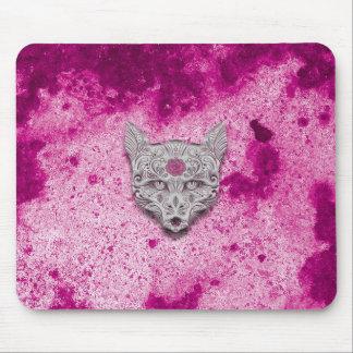 Cojín de ratón rosado/púrpura del cráneo del alfombrillas de raton