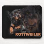 Cojín de ratón Rottweiler Alfombrillas De Ratones