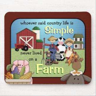 Cojín de ratón simple de la vida de la granja del  mouse pads