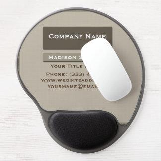 Cojín de ratón simple llano profesional del gel de alfombrillas de ratón con gel