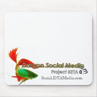 Cojín de ratón social del proyecto de los medios d alfombrillas de ratones